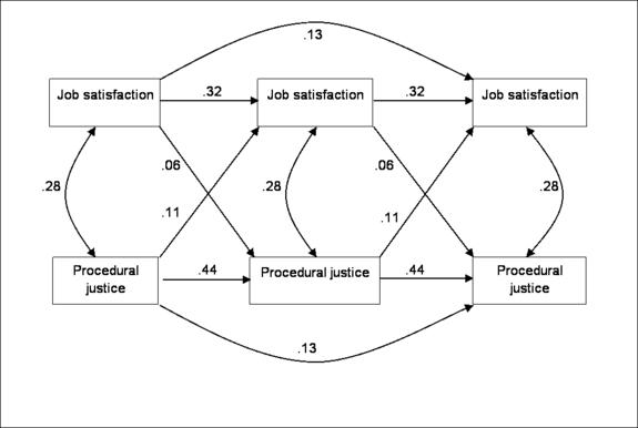 Relationship between procedural injustice and job satisfaction