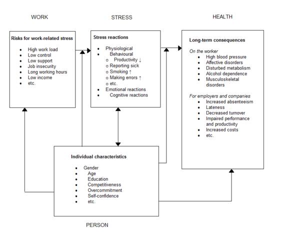 Figure 1: Model of causes and consequences of work-related stress