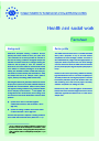 Cover image of Health and social work (Fact sheet)