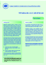 Cover image of Wholesale and retail trade (Fact sheet)