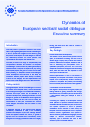 Cover image of Dynamics of European sectoral social dialogue - Executive summary