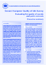 Cover image of Second European Quality of Life Survey: Evaluating the quality of society and public services - Executive summary