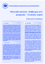 Cover image of Financial services: challenges and prospects – Executive summary