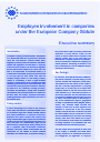 Cover image of Employee involvement in companies under the European Company Statute - Executive summary