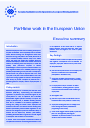 Cover image of Part-time work in Europe - Executive summary
