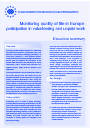 Cover image of Monitoring quality of life in Europe: participation in volunteering and unpaid work - Executive summary