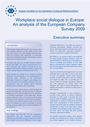 Cover image of Workplace social dialogue in Europe: An analysis of the European Company Survey 2009 - Executive summary