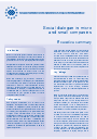 Cover image of Social dialogue in micro and small companies - Executive summary