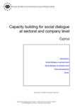 Capacity building for social dialogue at sectoral and company level - Cyprus