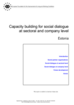 Capacity building for social dialogue at sectoral and company level - Estonia