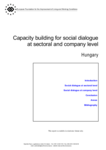 Capacity building for social dialogue at sectoral and company level - Hungary