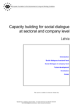 Capacity building for social dialogue at sectoral and company level - Latvia