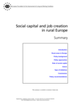Social capital and job creation in rural Europe - Summary