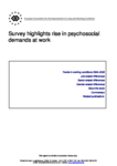 Survey highlights rise in psychosocial demands at work - Denmark