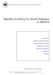Capacity building for social dialogue in Estonia