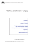 Working conditions in Hungary
