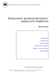 Employment guidance services for people with disabilities: Summary