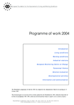 Programme of work for 2004