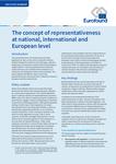 Conceptul de reprezentativitate la nivel național, internațional și european