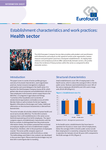 Establishment characteristics and work practices: Health sector