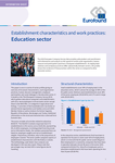 Establishment characteristics and work practices: Education sector