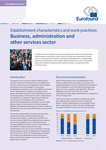 Establishment characteristics and work practices: Business, administration and other services sector