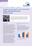 Establishment characteristics and work practices: Public administration and defence sector