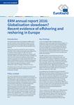 Raportul anual al ERM 2016: Procesul de globalizare înregistrează un regres? Dovezi recente ale delocalizării și relocalizării în Europa