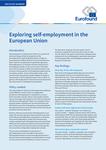 Zkoumání samostatné výdělečné činnosti v Evropské unii