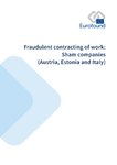 Fraudulent contracting of work: Sham companies (Austria, Estonia and Italy)
