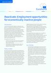 Opětovné zapojení do ekonomické činnosti: Pracovní příležitosti pro ekonomicky neaktivní občany