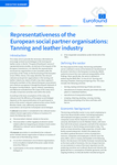 Representativeness of the European social partner organisations: Tanning and leather industry - Executive summary