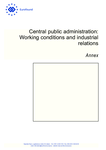 Central public administration: Working conditions and industrial relations – Annex