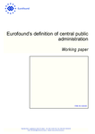 Eurofound's definition of central public administration
