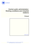 Central public administration: Working conditions and industrial relations – Finland