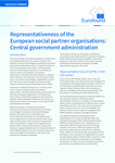 Representativeness of the European social partner organisations: Central government administration - Executive summary