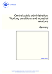 Central public administration: Working conditions and industrial relations – Germany