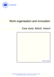 Work organisation and innovation: Case study: Abbott, Ireland