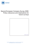 Second European Company Survey 2009: Policy relevance and implications for future surveys