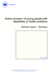 Active inclusion of young people with disabilities or health problems: National report – Germany