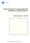 Active inclusion of young people with disabilities or health problems: Finland