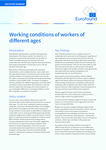 Working conditions of workers of different ages - Executive summary