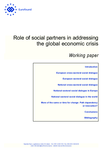 Role of social partners in addressing the global economic crisis (Working paper)