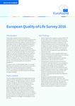 European Quality of Life Survey 2016 - Executive summary
