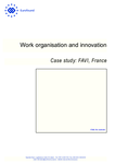 Work organisation and innovation: Case study: FAVI, France