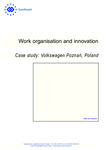 Work organisation and innovation: Case study: Volkswagen Poznań, Poland