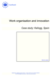 Work organisation and innovation: Case study: Kellogg, Spain