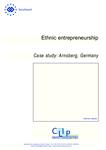 Ethnic entrepreneurship - Case study: Arnsberg, Germany