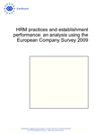 HRM practices and establishment performance: an analysis using the European Company Survey 2009