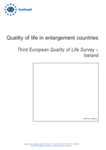 Quality of life in enlargement countries: Third European Quality of Life Survey – Iceland